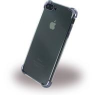 UreParts Black Corner Silikon Cover /  Handyhülle - Apple iPhone 7 Plus - Transparent Schwarz