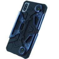UreParts Crab Style, Silikon Cover, Apple iPhone X, Schwarz