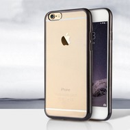 UreParts Electroplating TPU Cover/  Case/  Schutzhülle - Apple iPhone 6, 6s - Schwarz