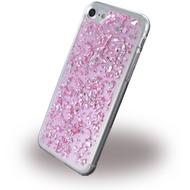 UreParts Flakes Case - Silikon Hülle - Apple iPhone 7 - Pink