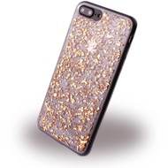 UreParts Flakes Case - Silikon Hülle - Apple iPhone 7 Plus - Gold