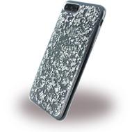 UreParts Flakes Case - Silikon Hülle - Apple iPhone 7 Plus - Silber