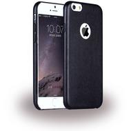 UreParts Leder Hardcover/ Hardcase/ Handy Hülle - Apple iPhone 6 Plus, 6s Plus - Schwarz