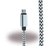 UreParts Micro USB Ladekabel/ Datenkabel - Micro-USB auf USB - Schwarz/ Weiss