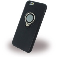 UreParts Ring Halter - Silikon Case /  Handyhülle - Apple iPhone 6, 6s - Schwarz