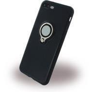 UreParts Ring Halter - Silikon Case /  Handyhülle - Apple iPhone 7 Plus - Schwarz