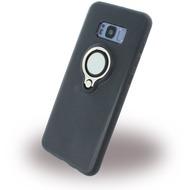 UreParts Ring Halter - Silikon Case /  Handyhülle - Samsung Galaxy S8 + - Schwarz