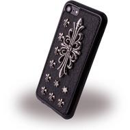 UreParts Rock Coat of Arms Case - Silikon Cover /  Schutzhülle - Apple iPhone 7 - Schwarz