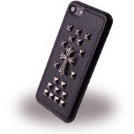 UreParts Rock Spiky Cross Case - Silikon Cover /  Schutzhülle - Apple iPhone 7 /  8 - Schwarz