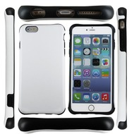 UreParts Shockproof - Hard Cover/  Case/  Schutzhülle - Apple iPhone 6 Plus, 6s Plus - Schwarz/ Weiss