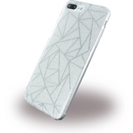 UreParts Tribal Case - Silikon Cover /  Schutzhülle - Apple iPhone 7 Plus - Silber