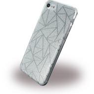 UreParts Tribal Case - Silikon Cover /  Schutzhülle - Apple iPhone 7 - Silber