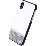 Uunique Perforation, Hardcover, Apple iPhone X, Weiss/ Silber