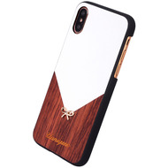 Uunique Rose Wood, Schutzhülle Cover Case, Apple iPhone X, Weiss/ Braun
