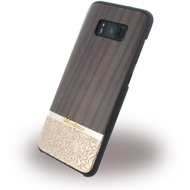 Uunique Rosewood & Gold Embossed - Hardcover - Samsung G950 Galaxy S8 - Braun