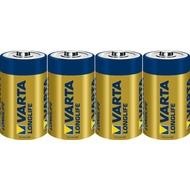 VARTA Batterie Alkaline - Mono - D - LR20 - 1.5V Longlife - Folienverpackung (4-Pack)