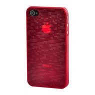 VCubed 3 Digital Squares Hard Case für iPhone 4/ 4S, Rot