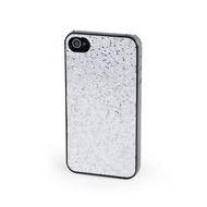 VCubed 3 Glitter Hard Case, für iPhone 4 /  4S, Silber