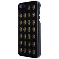 VCubed Metal Skull Hülle, für iPhone 5 /  5S, Schwarz/ Gold