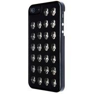 VCubed Metal Skull Hülle, für iPhone 5 /  5S, Schwarz/ Silber
