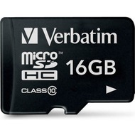 Verbatim Micro-SD Card  16GB Verbatim SDHC C10 ohne Adapter