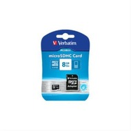 Verbatim Micro-SD Card  8GB Verbatim SDHC C10 mit Adapter