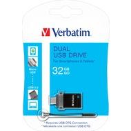 Verbatim USB 2.0 OTG Stick 32GB - Dual Drive (R) 12MB/ s 80x - (W) 5MB/ s 33x