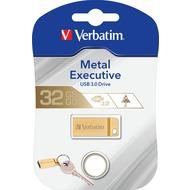 Verbatim USB 3.0 Stick 32GB - Metal Executive - Gold (R) 80MB/ s 533x - (W) 25MB/ s 166x