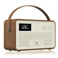 VQ Retro MKII DAB+ Radio mit Lightning-Dock, Bluetooth, braun