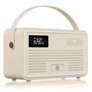 VQ Retro MKII DAB+ Radio mit Lightning-Dock, Bluetooth, cremeweiß