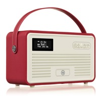 VQ Retro MKII DAB+ Radio mit Lightning-Dock, Bluetooth, rot
