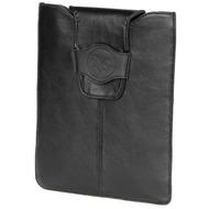 Waterkant Küstenperle Lammnappa Tasche/ Sleeve für iPad, Schwarz