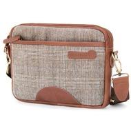 Waterkant Nordlicht Umhänge - Tasche für iPad, Braun