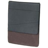 Waterkant Strandgold Flap Echtleder Tasche für iPad, Schwarz