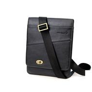 Waterkant Strandgold Slim Echtleder Tasche für iPad, Schwarz
