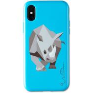 Wilma Electric Savanna Rhino for iPhone X/ Xs blue