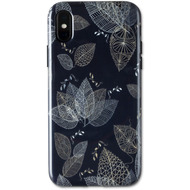 Wilma Midnight Shine Leaf Lines for iPhone X/ Xs black