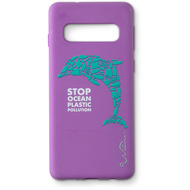 Wilma Stop Plastic Dolphin for Galaxy S10 purple