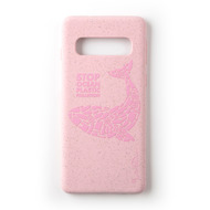 Wilma Stop Plastic Matt Whale for Galaxy S10+ pink