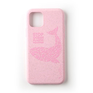 Wilma Stop Plastic Matt Whale for iPhone 11 Pro pink
