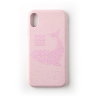 Wilma Stop Plastic Matt Whale for iPhone X/ Xs pink