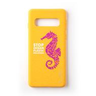Wilma Stop Plastic Seahorse for Galaxy S10+ orange