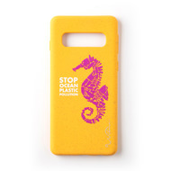 Wilma Stop Plastic Seahorse for Galaxy S10 yellow