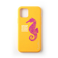 Wilma Stop Plastic Seahorse for iPhone 11 Pro yellow