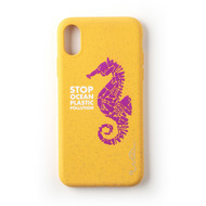 Wilma Stop Plastic Seahorse for iPhone X/ Xs yellow