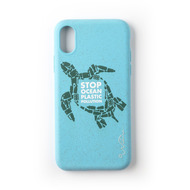 Wilma Stop Plastic Turtle for iPhone X/ Xs light blue