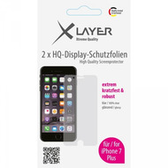 XLayer Schutzfolie 100% Clear 2x iPhone (7/ 8) Plus 5.5