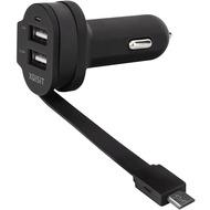 xqisit Dual KFZ Lader 6A Micro-USB schwarz