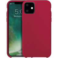 xqisit Silicone for iPhone 11 Merlot Red