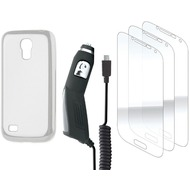 xqisit Starter Set for Galaxy S4 mini transparent